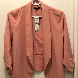 Medium dusty pink trendy blazer